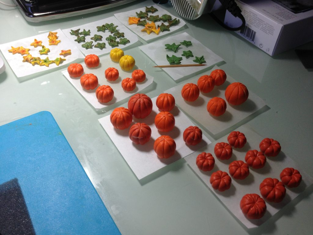 Pumpkins from polymer clay. On my table today 4