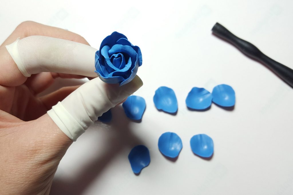 Realistic Rose from Polymer Clay 20