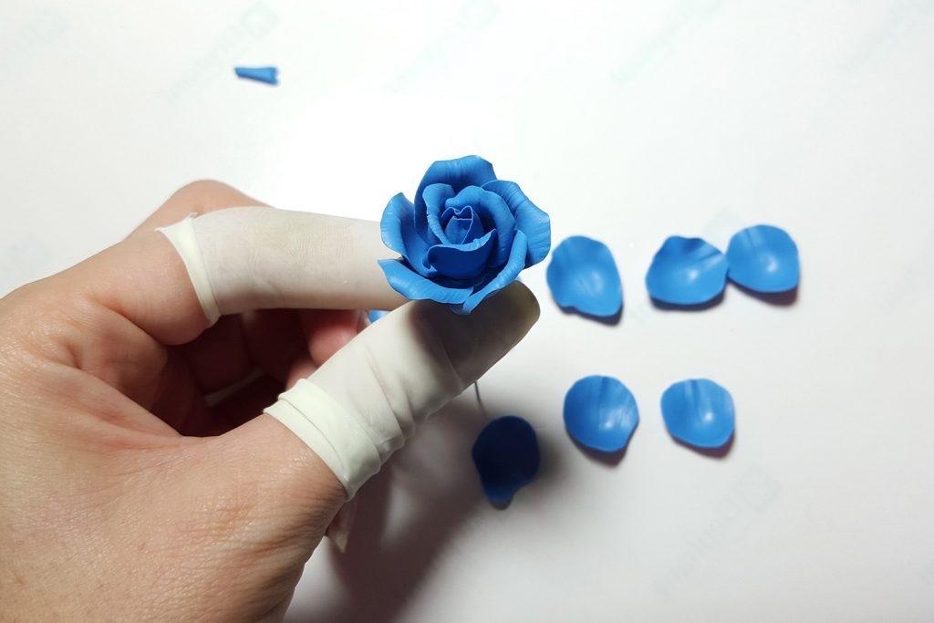 Realistic Rose from Polymer Clay 22