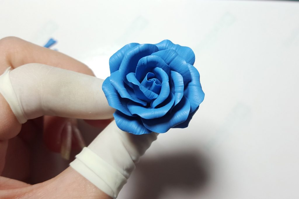Realistic Rose from Polymer Clay 26