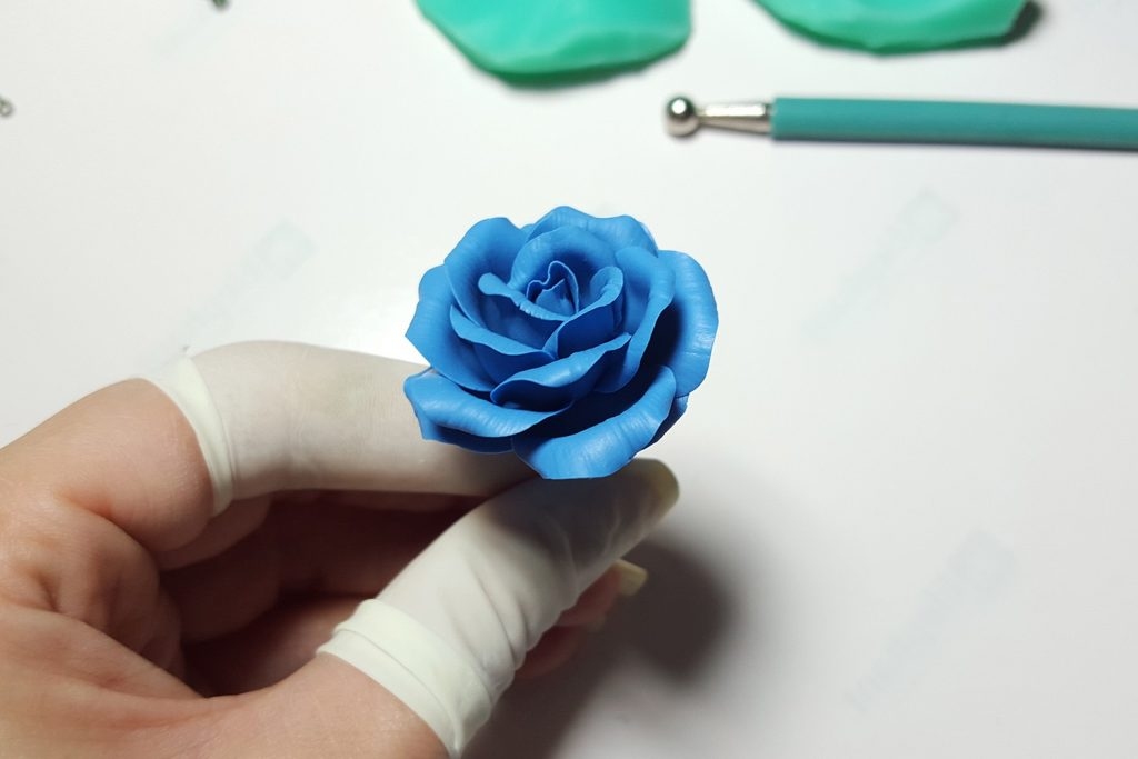 Realistic Rose from Polymer Clay 28