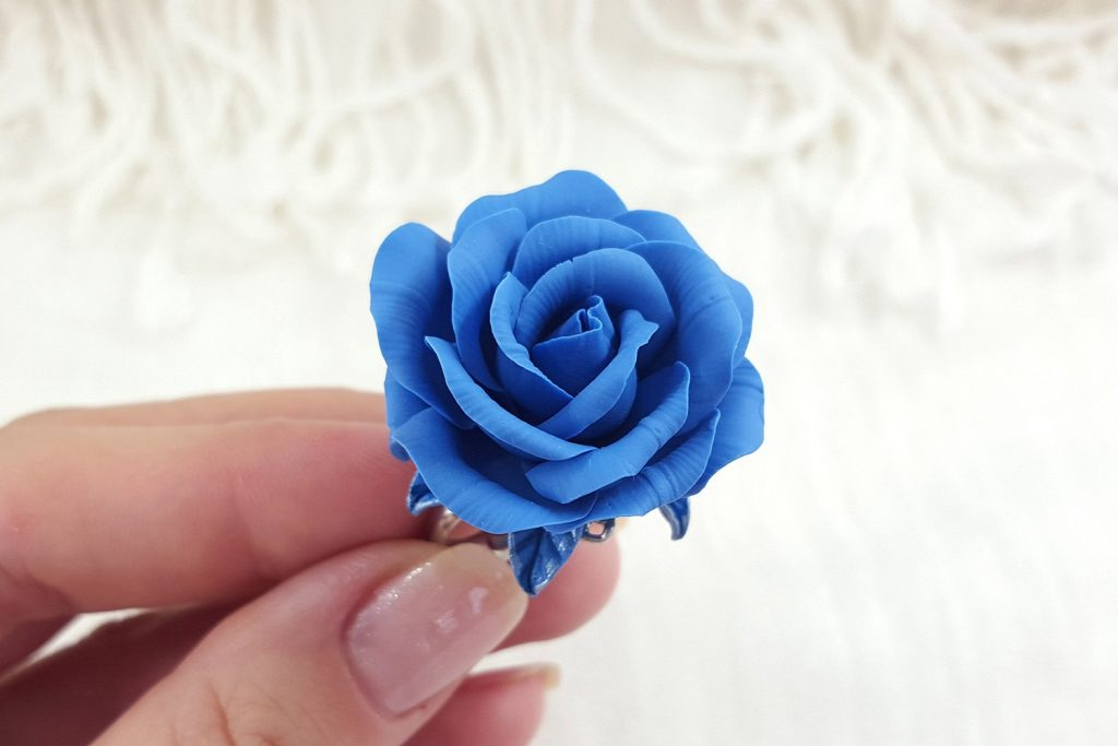 Realistic Rose from Polymer Clay 31