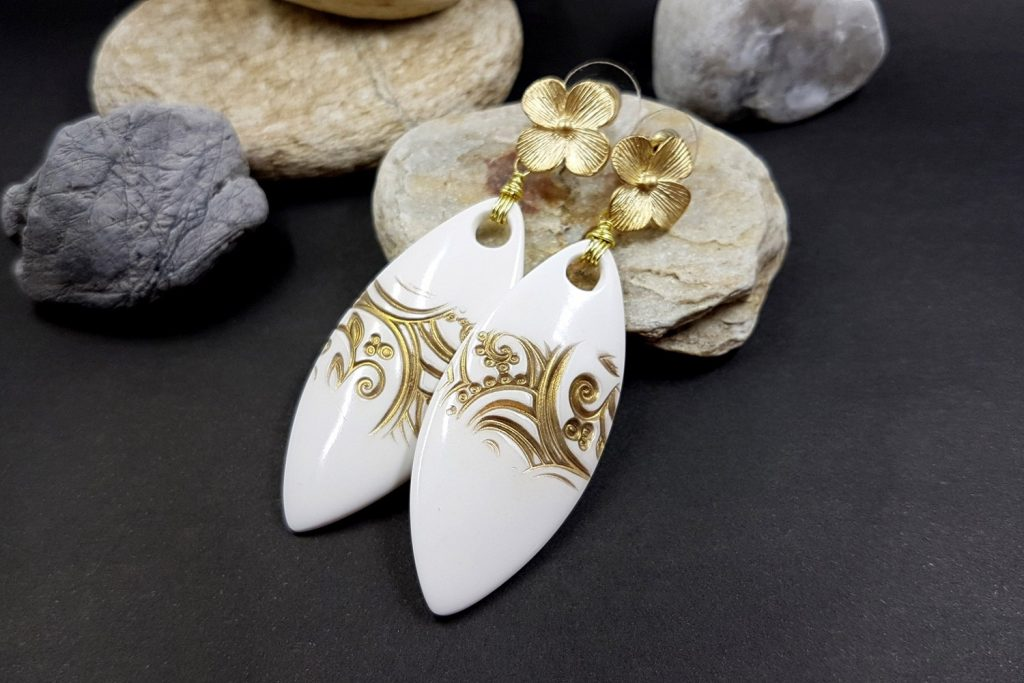 White Earrings. On my table today 18