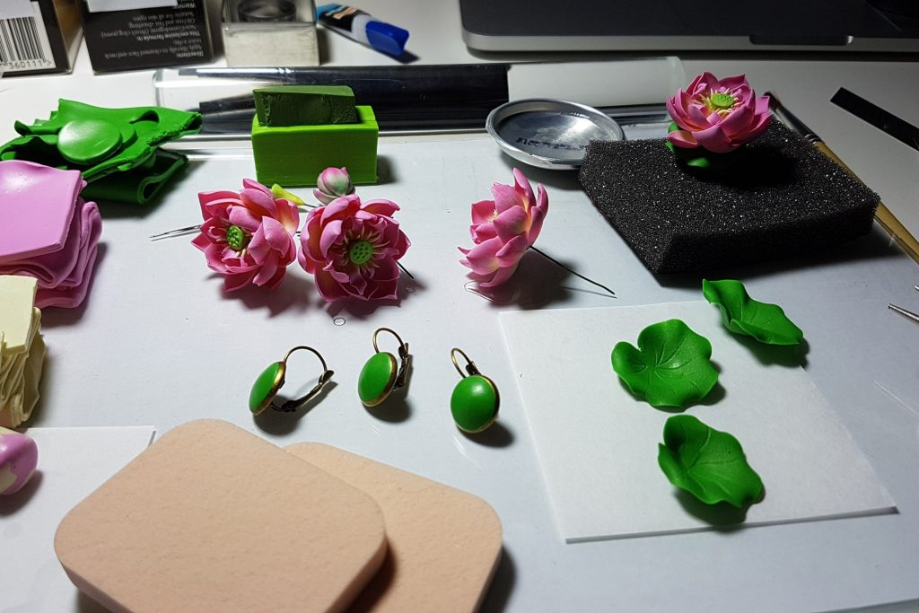 Lotus Flowers. On my table today 3