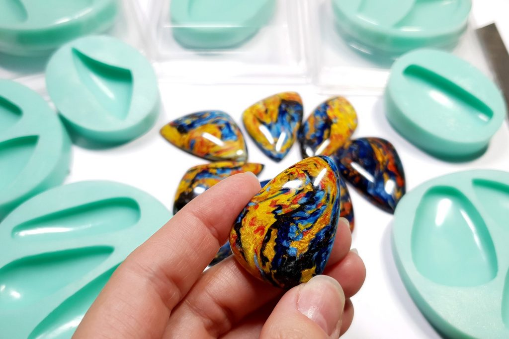 My new Stone Cabochon molds from Yaroslav's Molds 6