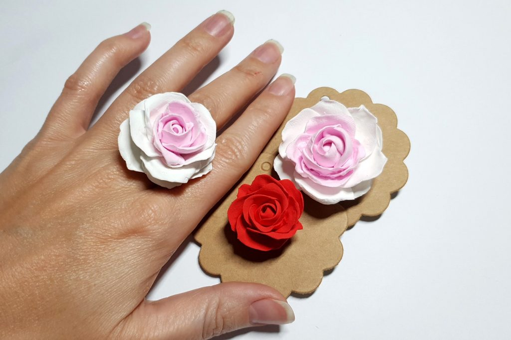 Free Tutorial: Rose Flower from Air Dry Modeling clay 3