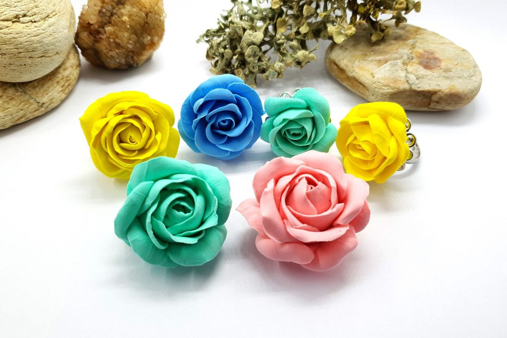 Free Tutorial: Rose Flower from Air Dry Modeling clay 5