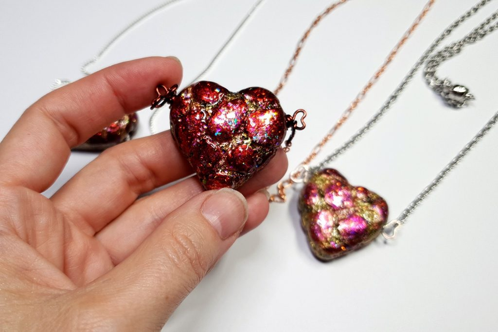 Free Tutorial: Valentine's Day Gift - LOVE Heart Pendant 2