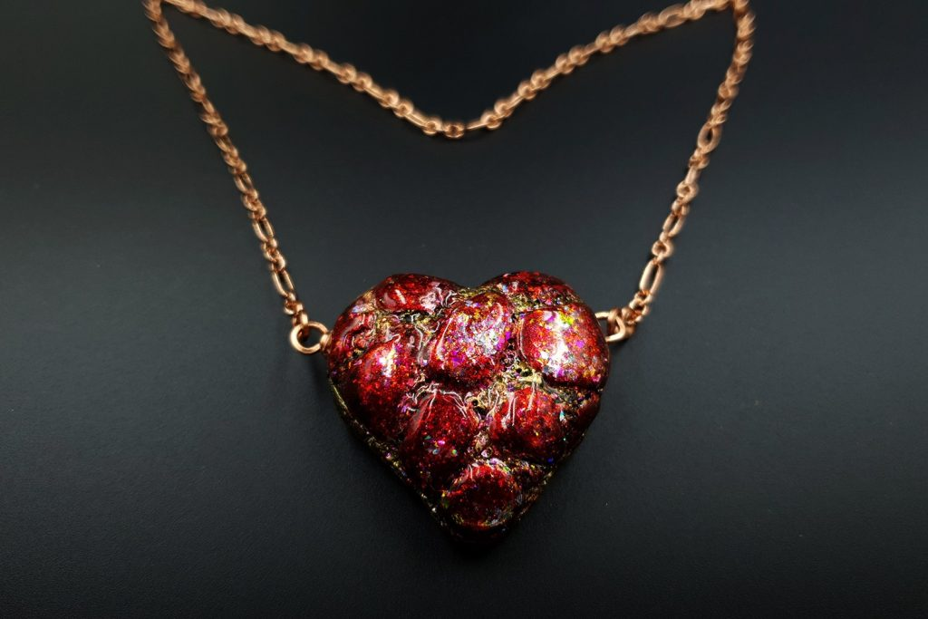 Free Tutorial: Valentine's Day Gift - LOVE Heart Pendant 7