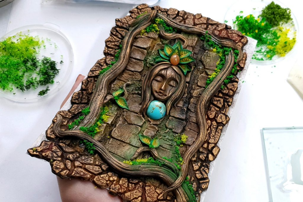 Free Tutorial: A Praying Forest Goddess for  Book Cover 9