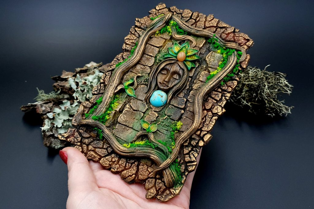 Free Tutorial: A Praying Forest Goddess for  Book Cover 13